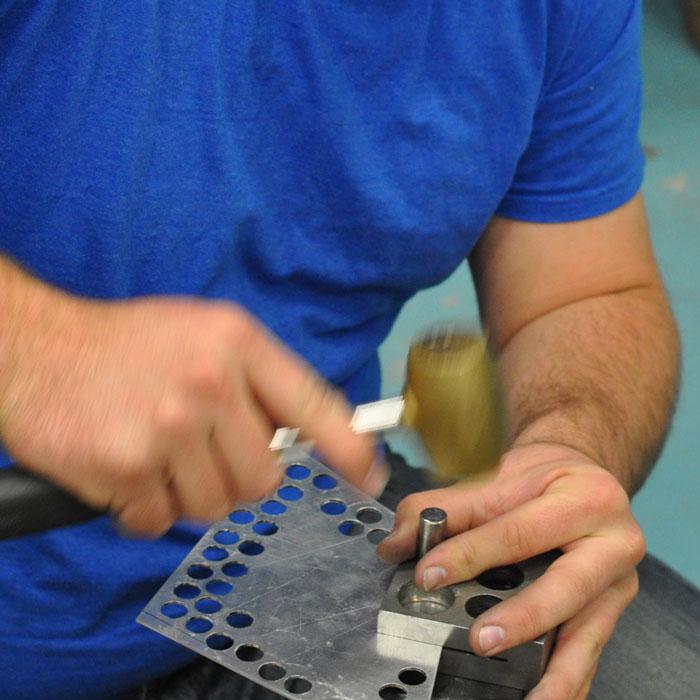 Metals student disc cutting