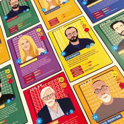 Faculty Trading cards based on imagined routines