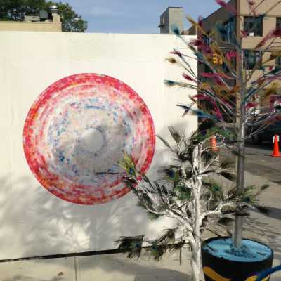 Wind drawing at Absolut Open Canvas in New York