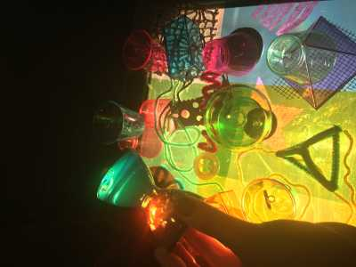 The Art Education Club's light and color exploration event at Watauga Public Library.