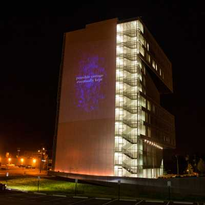Projection of The Political Reporter on building during 2012 Democratic National Convention in Charlotte