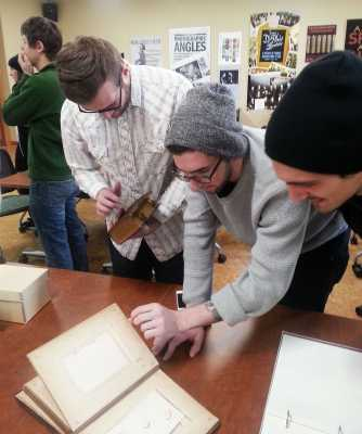 Students visiting Chapel Hill library