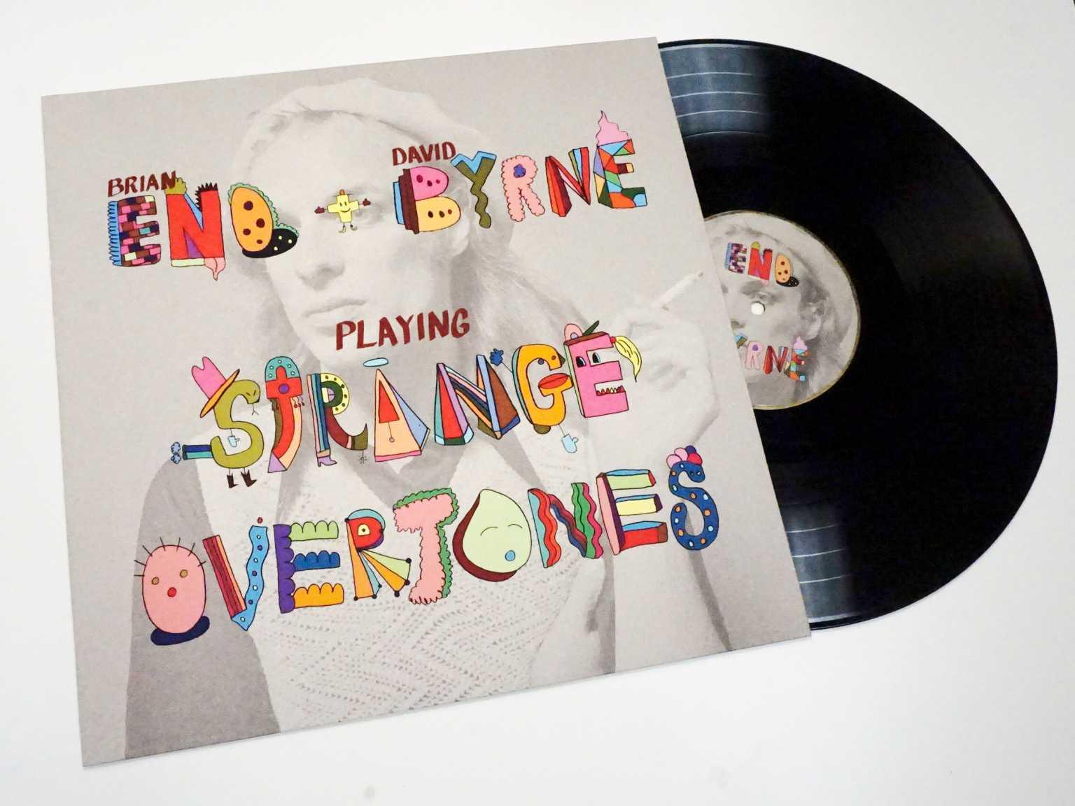 Hand lettered album cover