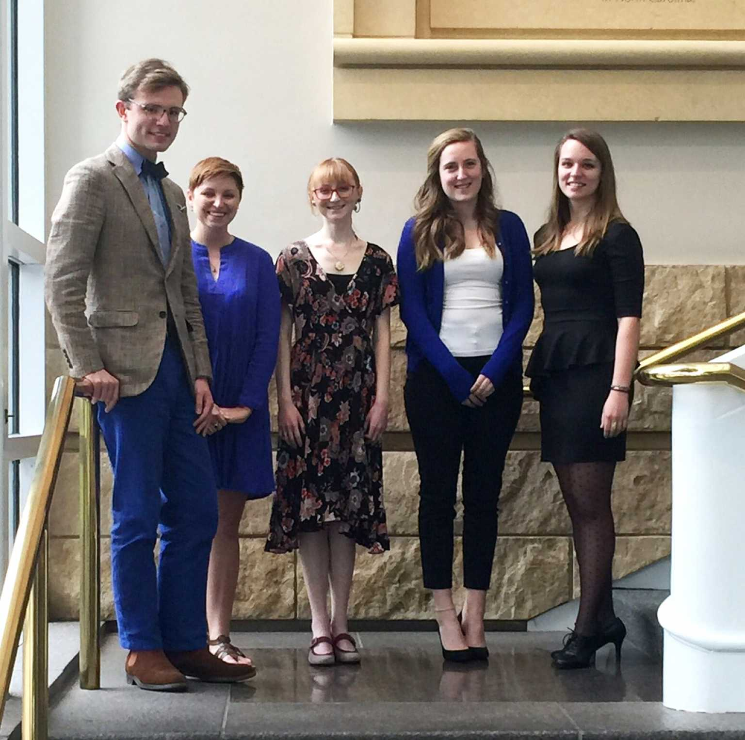 Appalachian State senior Christine Perry (right) and students from other universities throughout the region at the Mint Museum's 27th Annual Regional Collegiate Art History Symposium