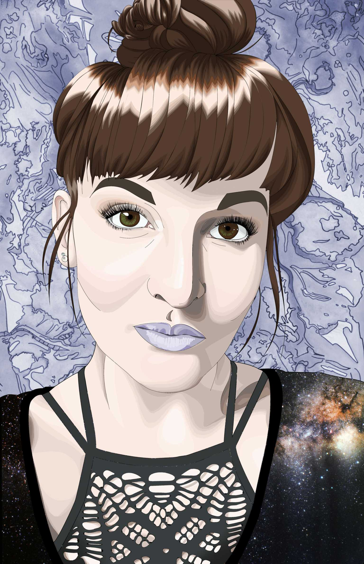 Self portrait from Digital Imaging class