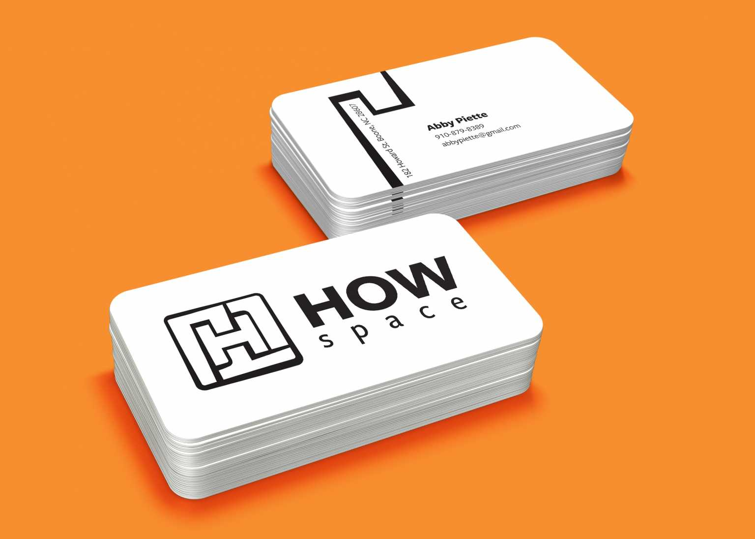 How Space business cards by Abby Piette and Matt Frizzell