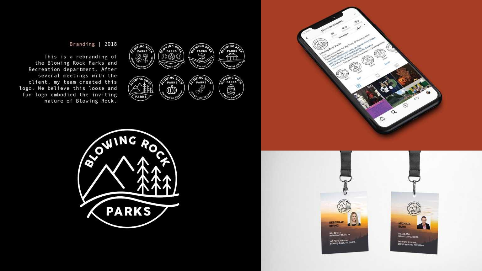 Blowing Rock Parks identity