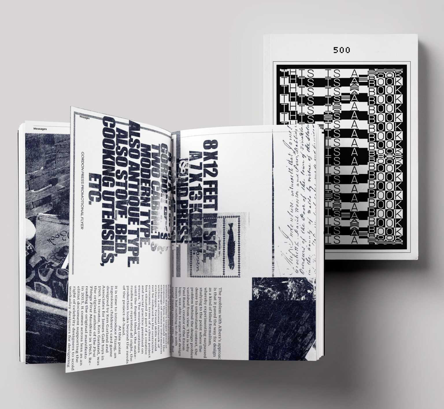 Spread from 500 Page Book for Graphic Design Senior Seminar