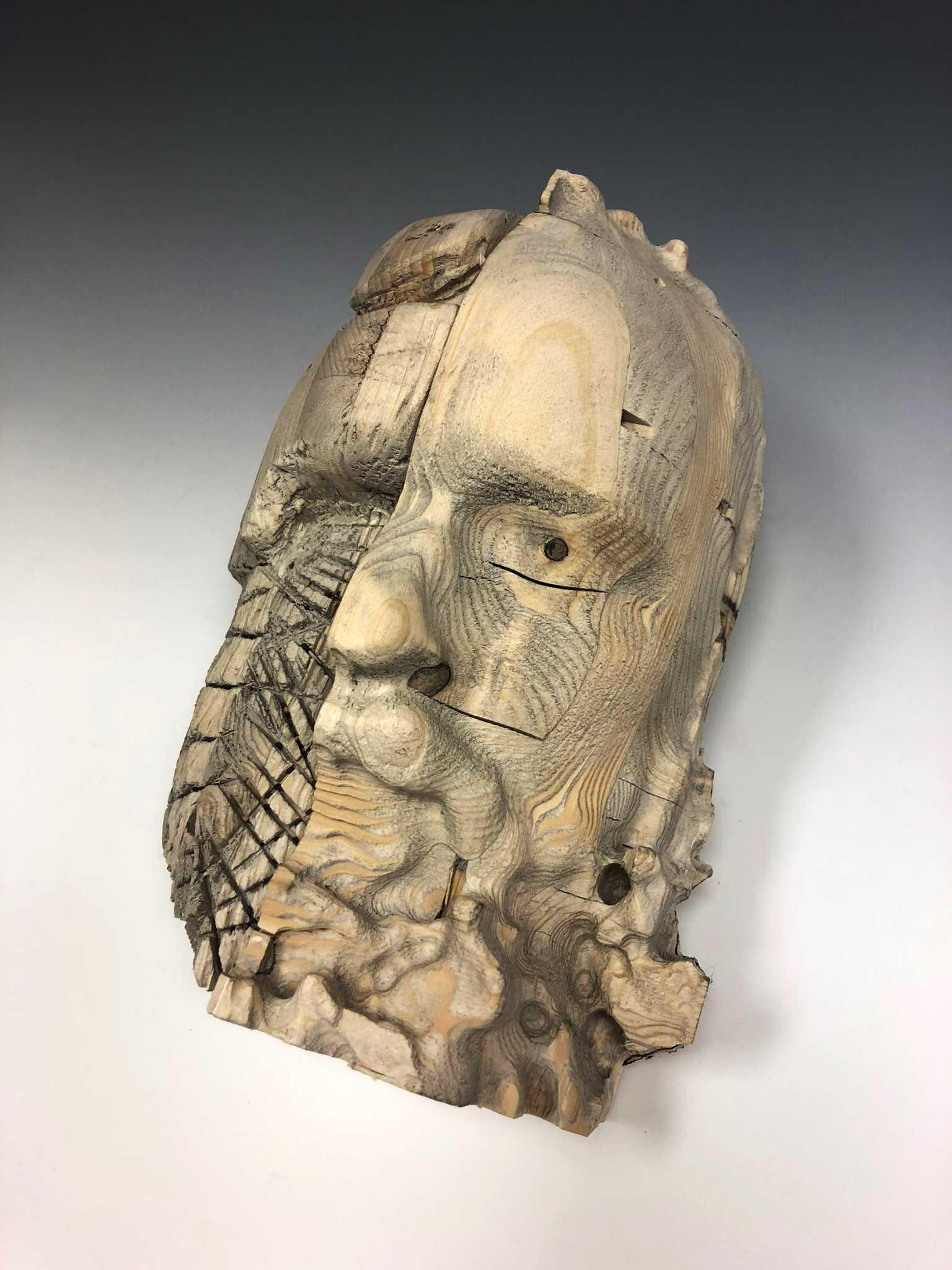 Carving Self Portrait