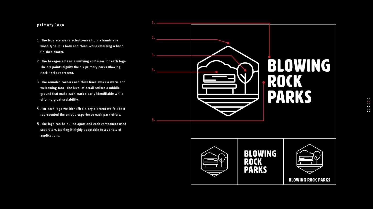 Blowing Rock Parks identity proposal