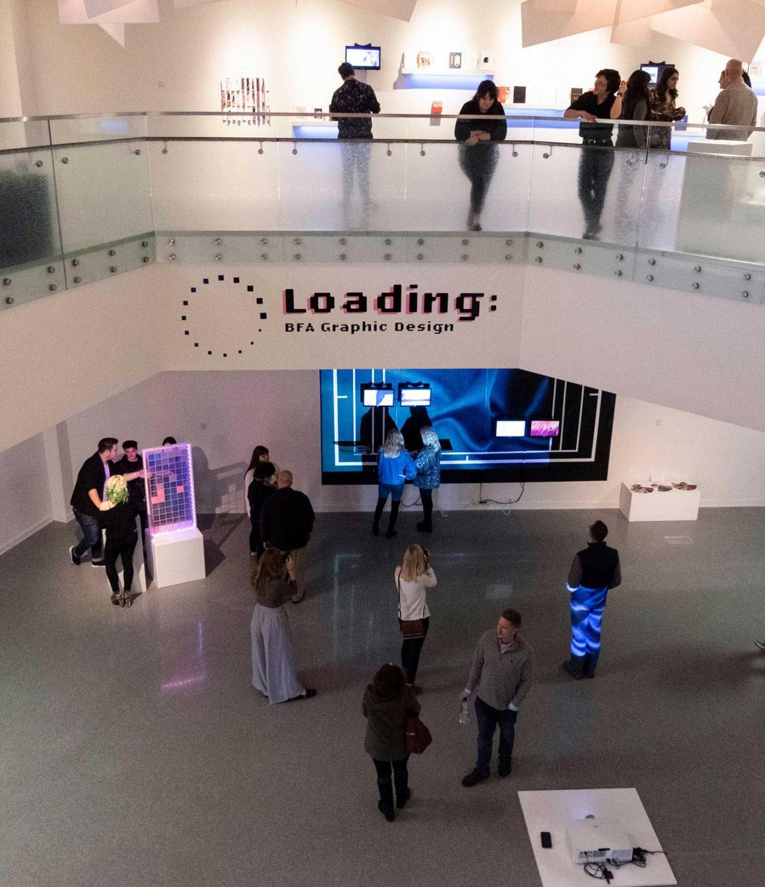 Loading, gd senior studio exhibition branding